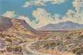 Texas:Early Texas Art - Regionalists, LEWIS TEEL (American, 1883-1960). Hueco Tanks in Springtime,near El Paso. Oil on canvas laid on board. 16-1/4 x 24 inch...