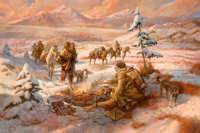 WILLIAM H. AHRENDT (American, b. 1933) Shoshone Hunters Return, 2012* Oil on canvas 32 x 48 inche