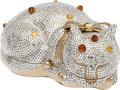 Luxury Accessories:Bags, Judith Leiber Full Bead Sleeping Cat Crystal Minaudiere EveningBag. ... (Total: 2 Items)