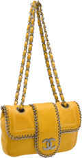Luxury Accessories:Bags, Chanel Yellow Lambskin Leather and Chain Flap Bag. ...