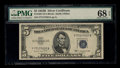 Small Size:Silver Certificates, Fr. 1657 $5 1953B Silver Certificate. PMG Superb Gem Unc 68 EPQ.. ...