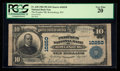 National Bank Notes:West Virginia, Rowlesburg, WV - $10 1902 Plain Back Fr. 628 The Peoples NB Ch. # 10250. ...