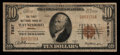 National Bank Notes:Virginia, Waynesboro, VA - $10 1929 Ty. 1 The First NB Ch. # 7587. ...