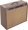 Musical Instruments:Amplifiers, PA, & Effects, 1961 Fender Vibrolux Brown Guitar Amplifier, Serial # 00433...