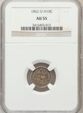Seated Half Dimes: , 1852-O H10C AU55 NGC. NGC Census: (4/24). PCGS Population (7/19).Mintage: 260,000. Numismedia Wsl. Price for problem free ...