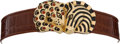 Luxury Accessories:Accessories, Judith Leiber Brown Crocodile with Zebra and Cheetah featuring Multi-Cabochon Closure. ... (Total: 2 Items)