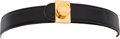 Luxury Accessories:Accessories, Judith Leiber Black Suede Belt with Western Inspired and BlackCabochon Buckle. ... (Total: 2 Items)