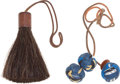 Luxury Accessories:Bags, Hermes Horsehair and Silver Charm and Blue Silk Charm. ... (Total:2 Items)