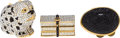 Luxury Accessories:Accessories, Set of Three: Judith Leiber Full Bead Crystal Pillboxes. ...(Total: 2 Items)