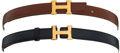 Luxury Accessories:Accessories, Set of 2: Hermes Mini H Belts. . ... (Total: 2 Items)