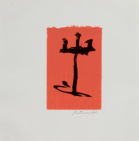 ROBERT MOTHERWELL (American, 1915-1991) Gypsy Curse, 1983 Color lithograph 8-3/4 x 5-3/4 inches (