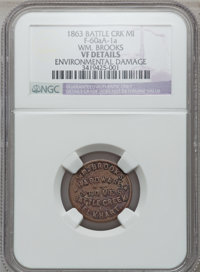 1863 Wm. Brooks, Elkhart, IN, F-260A-1a, R.9 - Environmental Damage - NGC Details. VF. The Fuld revision currently in pr...