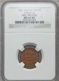 Civil War Merchants, 1861 Wm. Brooks, Elkhart, IN, F-260A-4a, R.6, MS64 Brown NGC..Incomplete Planchet. The Fuld revision currently in progress ...