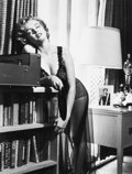 Photographs:20th Century, PHILIPPE HALSMAN (American, 1906-1979). Marilyn Listening toMusic, circa 1952. Gelatin silver, 1981. 12-7/8 x 9-7/8 inc...
