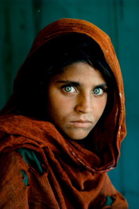 STEVE MCCURRY (American, b. 1950) Afghan Girl, 1984 Chromogenic, printed later 18 x 12 inches (45