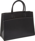 Luxury Accessories:Bags, Hermes Black Epsom Leather Whitebus GM Tote with WhiteTopstitching. ...