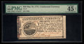 Colonial Notes:Continental Congress Issues, Continental Currency May 10, 1775 $20 PMG Choice Extremely Fine 45 Net.. ...