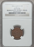 Civil War Merchants, 1863 Remington & Bennett, Adrian, MI, F-5D-1a, R.8 AU50 NGC..Purchased from J. Canfield (2/13/1971) for $12.00..From...