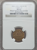 Civil War Merchants, 1863 Philip Bach, Ann Arbor, MI, F-40A-1b, R.6, MS63 NGC..Purchased from James Kelly (5/7/1943) for 40 cents.. FromT...