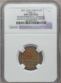 Civil War Merchants, 1863 Dean & Co., Ann Arbor, MI, F-40B-1b, R.6 - EnvironmentalDamage - NGC Details. Unc.. Purchased from James Kelly(5/7/...