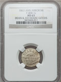 Civil War Merchants, 1863 Dean & Co., Ann Arbor, MI, F-40B-1c, R.7, MS63 NGC..Ex: Thomas L. Elder (5/1940), lot 1463.. From The CliftonA....