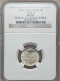 Civil War Merchants, 1863 Dean & Co., Ann Arbor, MI, F-40B-2e, R.8 MS63 NGC..Purchased from James Kelly (5/7/1943) for 50 cents.. FromThe...