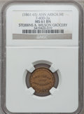 Civil War Merchants, (1861-65) Stebbins & Wilson, Ann Arbor, MI, F-40D-2a, R.6, MS61Brown NGC.. From The Clifton A. Temple Collection....