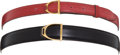 Luxury Accessories:Accessories, Set of Two: Hermes Horsebit Belts. ... (Total: 2 Items)