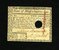 Colonial Notes:Massachusetts, Massachusetts May 5, 1780 Hole Cancel $2 Choice New. A lovelyChoice New example of this later date Massachusetts issue that...