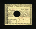 Colonial Notes:New Hampshire, New Hampshire April 29, 1780 $4 Choice New. This is the onlyuncirculated example that we have sold from this final New Hamp...