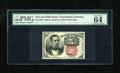 Fractional Currency:Fifth Issue, Fr. 1266 10c Fifth Issue PMG Choice Uncirculated 64EPQ. A lovely example of this short key Meredith that has bright colors a...