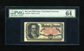 Fractional Currency:Fifth Issue, Fr. 1381 50c Fifth Issue PMG Choice Uncirculated 64EPQ. A lovelyCrawford note that certainly has gem face margins but with ...