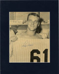 Autographs:Photos, Roger Maris Signed Photograph. Excellent locker room shot of the great Roger Maris as he prepares his Yankee pinstripes. A...