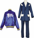 Music Memorabilia:Costumes, Conway Twitty Suit and Tour Jacket. Includes a blue suit with whitetrim from Twitty's personal wardrobe, plus a blue satin ... (Total:1 Item)