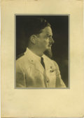 "Transportation:Aviation, Three Signed Photographs of Italian Aviators, the first, 9.75"" x13.5"", being of Mario De Bernardi (1893 - 1959) and inscrib...(Total: 3 Item)"