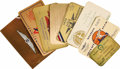 "Transportation:Aviation, Two Metal Cliff Henderson Membership Cards, Six Tickets, 4"" x 2.5""or smaller, circa 1920s - 1930s. Lot includes the followi...(Total: 8 Item)"
