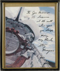 Autographs:Celebrities, Story Musgrave Signed Color Photograph,...