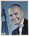 "Autographs:Celebrities, Early John Glenn Signed Color Photograph, 8"" x 10"". Inscribed""Best regards to/ Joe Garino-/ J H Glenn Jr./ Mercury Astron...(Total: 1 Item)"