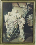 """Autographs:Celebrities, Apollo 8 Signed Crew Color Photograph, 7"""" x 9"""" (visible), framed to8"""" x 10"""". Inscribed """"To Joe-/ Please keep me/ in shape...(Total: 1 Item)"""