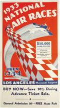"""Transportation:Aviation, Album Containing Promotional Materials From the 1933 National AirRaces, Los Angeles. The album measures 18"""" x 16.5"""" and con...(Total: 1 Item)"""