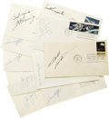 Autographs:Celebrities, Astronaut Signed Space First Day Covers - Lot of Ten. Includes thefollowing: Bill Anders- Apollo 8 stamp, some age toni... (Total: 10Item)