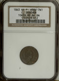 Civil War Merchants: , 1863 C. Doscher Civil War Merchant Token MS64 Brown NGC. NYFuld-630V-7A1....