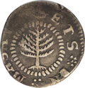 1652 SHILNG Pine Tree Shilling, Small Planchet--Clipped After Strike--NCS. Fine Details. Noe-16, Crosby 21-L, R.2. 52.2...