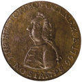 Colonials: , 1766 1/2P Pitt Halfpenny MS61 Brown NGC. Breen-251. Sir William Pitt became a hero to merchants on both sides of the Atlant...