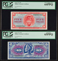 Military Payment Certificates:Series 611, Series 611 $5 PCGS Very Choice New 64PPQ. Series 611 $10 PCGS Gem New 65PPQ.. ... (Total: 2 notes)