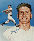 "Baseball Collectibles:Others, Mickey Mantle ""No. 7"" Signed Oversized Print...."