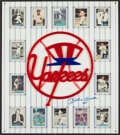 "Baseball Collectibles:Others, Mickey Mantle ""No 7"" Signed New York Yankees Oversized PlasticEmblem...."