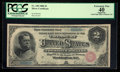 Large Size:Silver Certificates, Fr. 240 $2 1886 Silver Certificate PCGS Apparent Extremely Fine 40.. ...