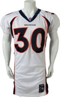 Football Collectibles:Uniforms, 2001 Terrell Davis Game Worn Denver Broncos Jersey - With LOA from Davis Himself!...