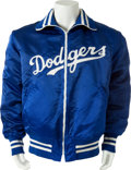 Baseball Collectibles:Uniforms, Late 1980's Don Drysdale Game Worn Los Angeles Dodgers Jacket....